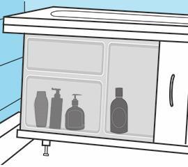 Экран под ванну скрывает ваши вещи