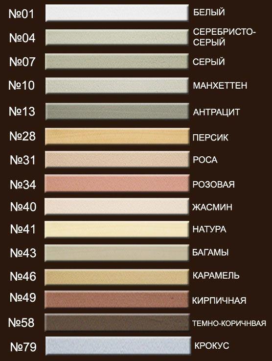 Подбор цвета затирки,ВЫБОР ЗАТИРКИ