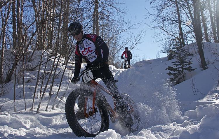 Фетбайк на снегу