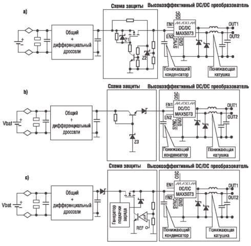 Схема защиты оборудования