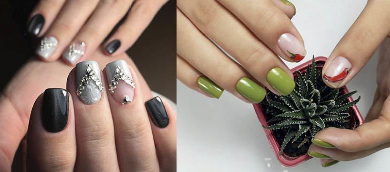 negative space нежные ногти фотоидеи