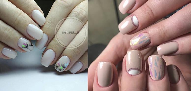 фольга дизайн glass nails