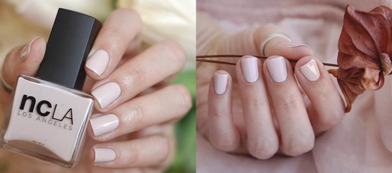 Almost Mauve нежные ногти весна-лето 2018