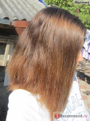 Волосы до при разном освещении