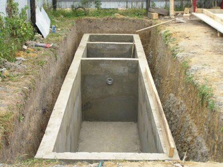 Накопительный резервуар для стоков