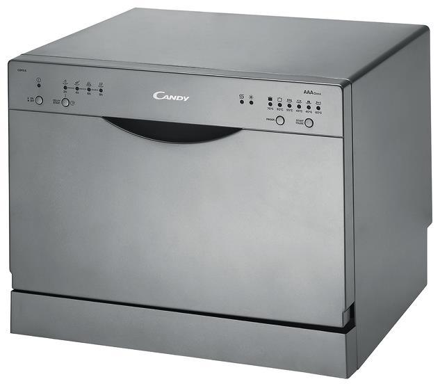 Небольшая посудомоечная машина Канди в строгом стиле с выведенной панелью задач