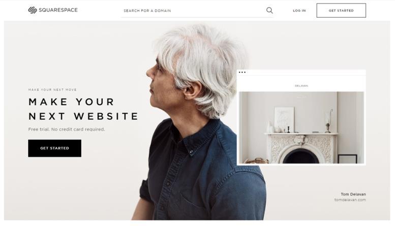 Дизайн сайта Squarespace