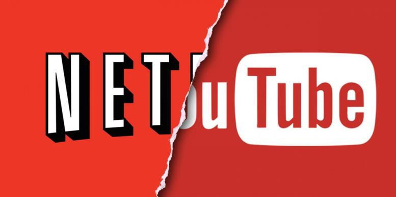 Логотип Netflix и YouTube