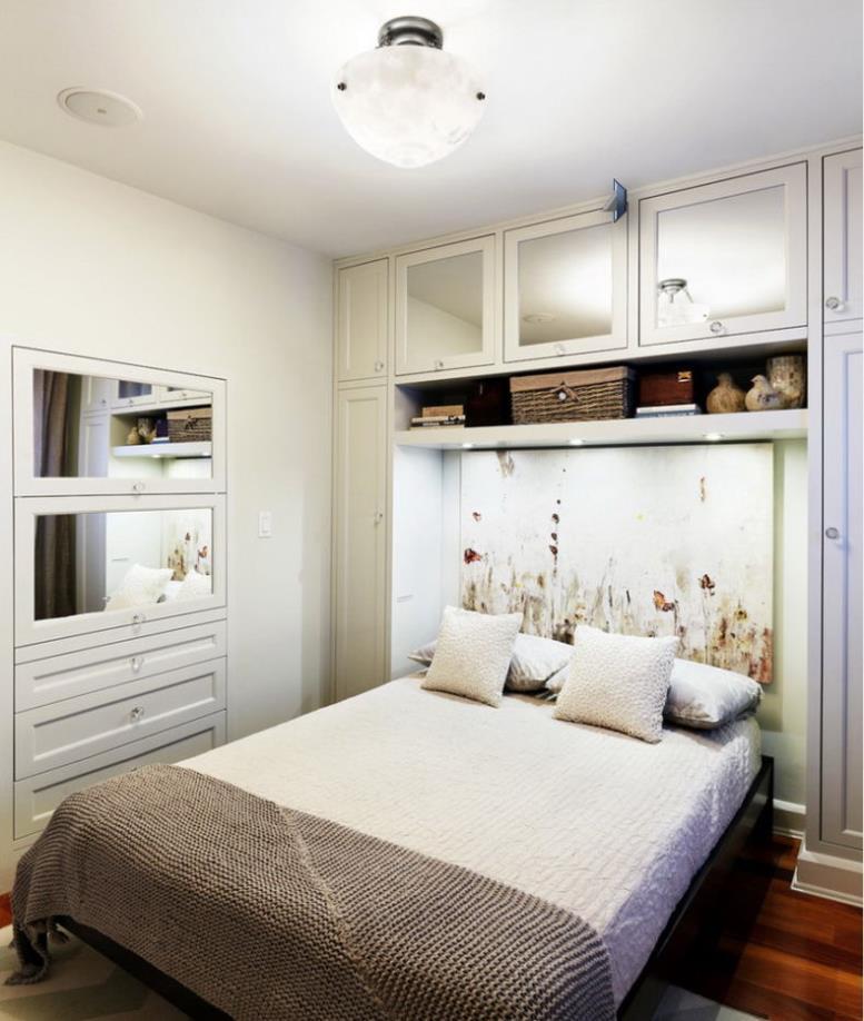 Модульная белая мебель для спальни