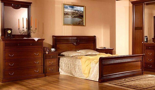 Модульная мебель для спальни в классическом стиле