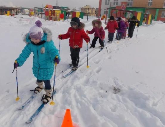 Как выбрать лыжи для дошкольника