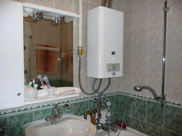 При выборе газовой колонки нужно учитывать площадь квартиры