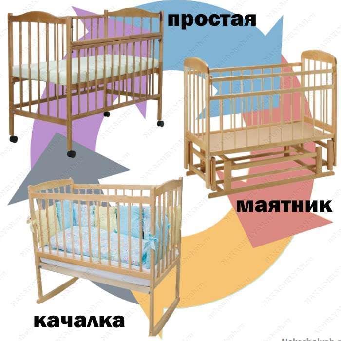 Как выбрать детскую кроватку для новорожденного качалка маятник обычная кроватка для новорожденного