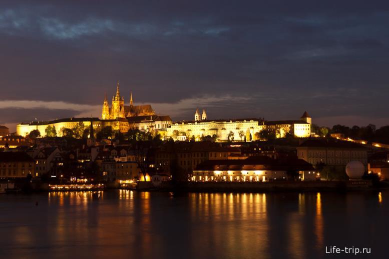 Вечерняя романтика в Праге.
