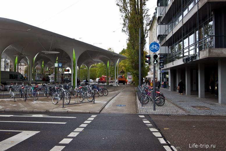Велодорожки в Мюнхене.