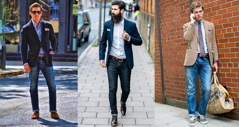 Как носить мужской пиджак с джинсами и туфлями фото