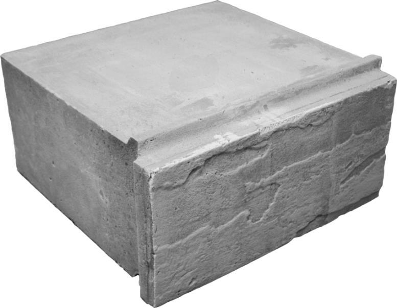 Пенобетонный блок с облицовочной стороной