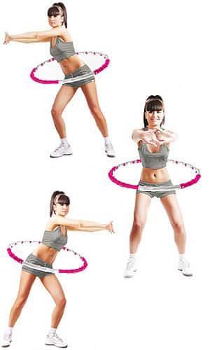 Упражнения на обруче