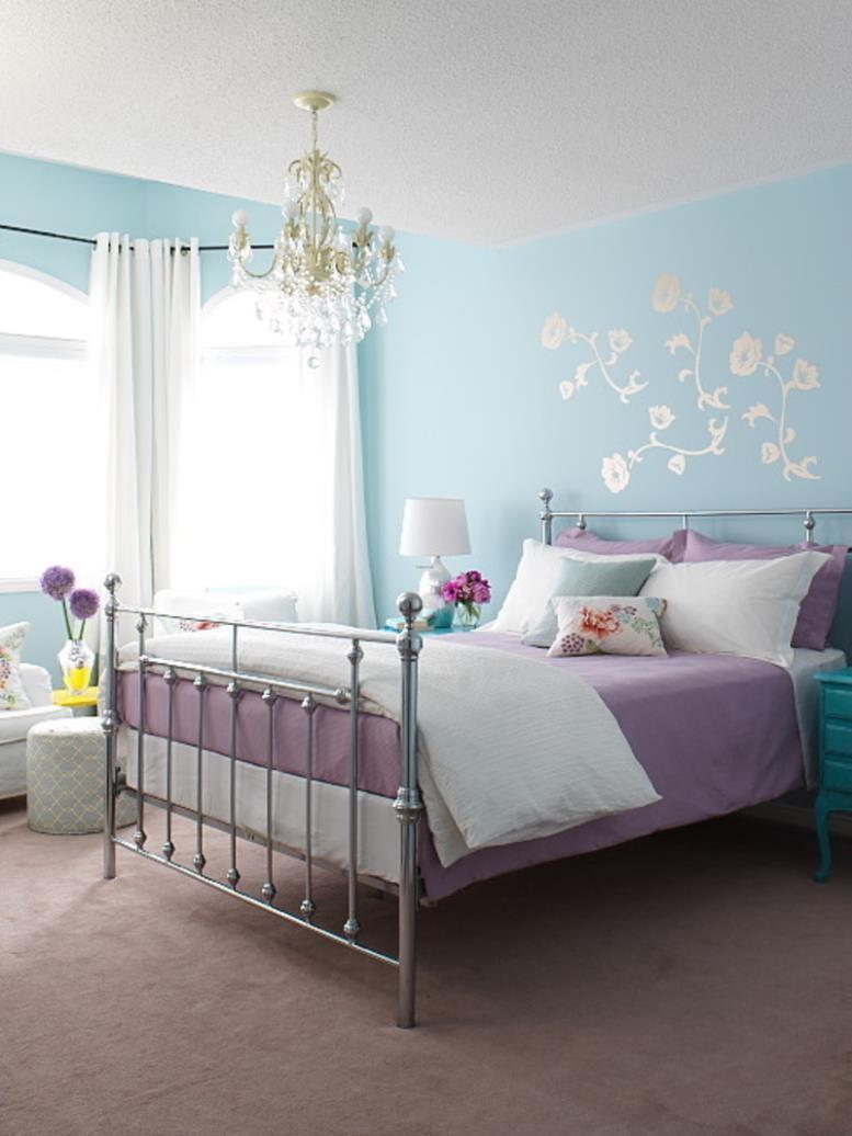 сиреневый с голубым оттенки для комнаты для девочек