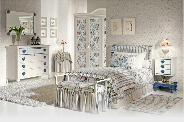 комната в стиле кантри для девочки