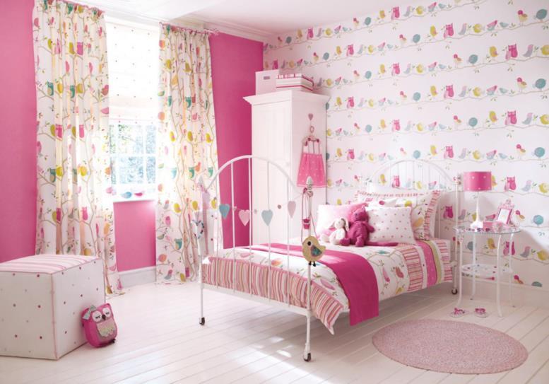 обои для детской комнаты в интерьере. обои под цвет штор