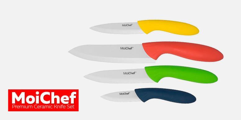 MoiChef 8-Piece Premium Ceramic Knife Set - керамические кухонные ножи