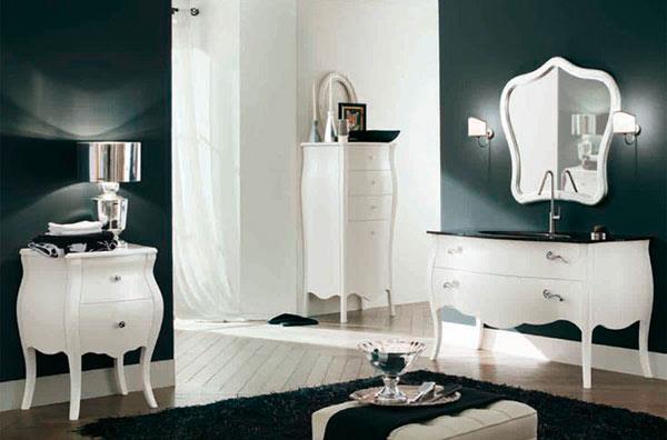 Мебель для ванной в стиле ретро