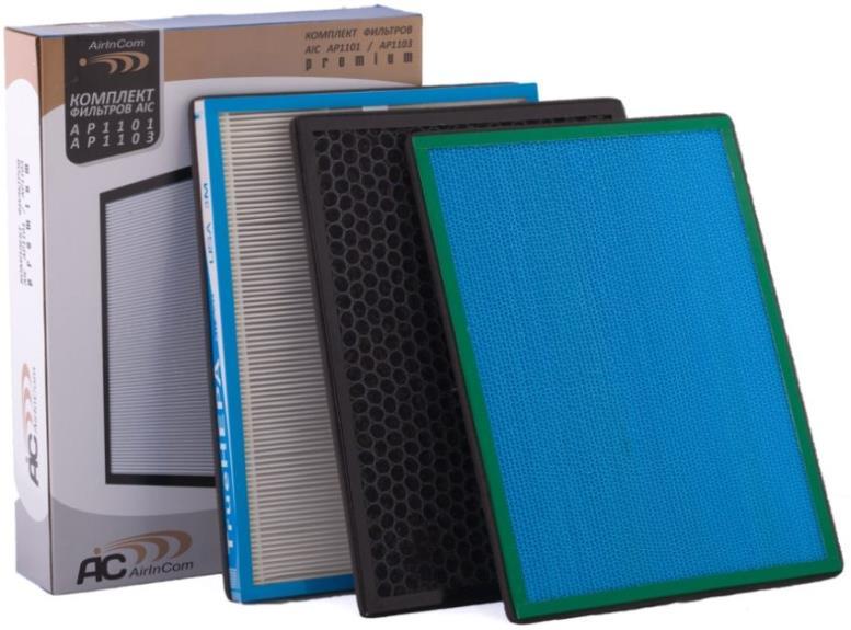 Комплект фильтров для увлажнителя воздуха - каталитический, комбинированный (дезодорирующий) и TRUE HEPA фильтр