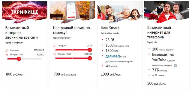 Тарифы МТС стоимостью до 1000 рублей