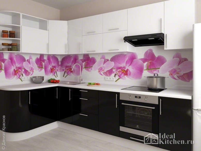 101 фото черно-белых кухонь