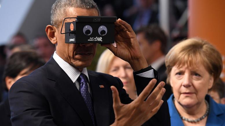 Барак Обама очки виртуальной реальности