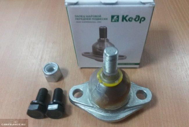Опора шаровая фирмы Кедр с болтами и гайками для автомобиля ВАЗ-2110