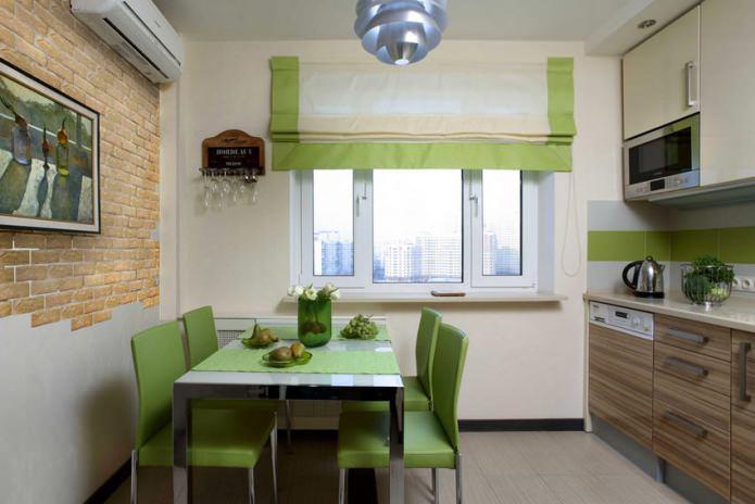 Идеи обоев для маленькой кухни