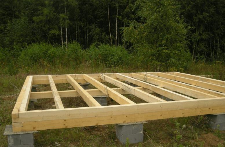 Начало строительства фундамента для каркасных домов