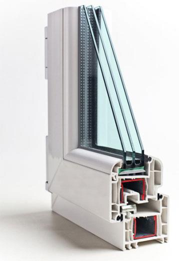 Стеклопакет пластикового окна для кухни