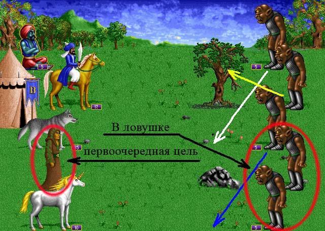 Бой против ходячих отрядов врага