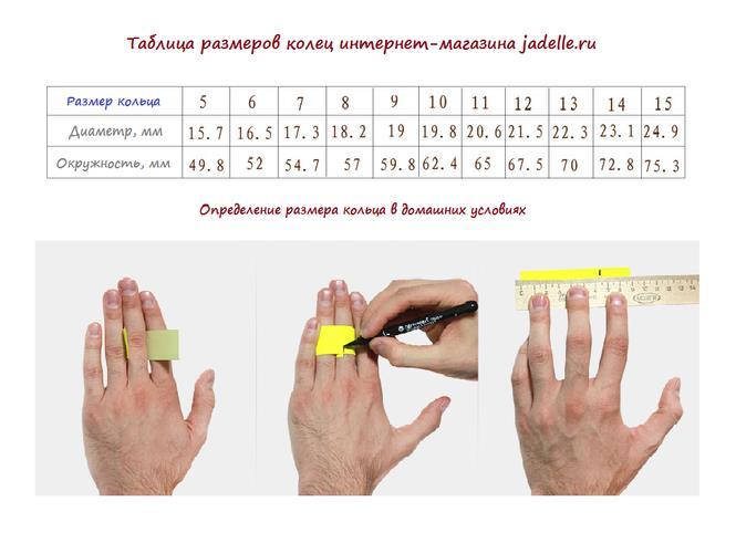 Определяем размер мужского кольца