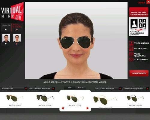 Rayban Virtual Monitor - подбор очков онлайн по фотографии бесплатно