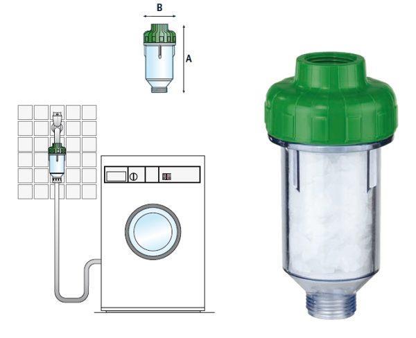 Схема установки полифосфатного фильтра