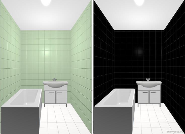 Дизайнерские эскизы для маленькой ванной комнаты.