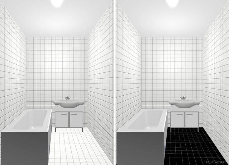 Бело-черная ванная при маленькой ванной комнате.