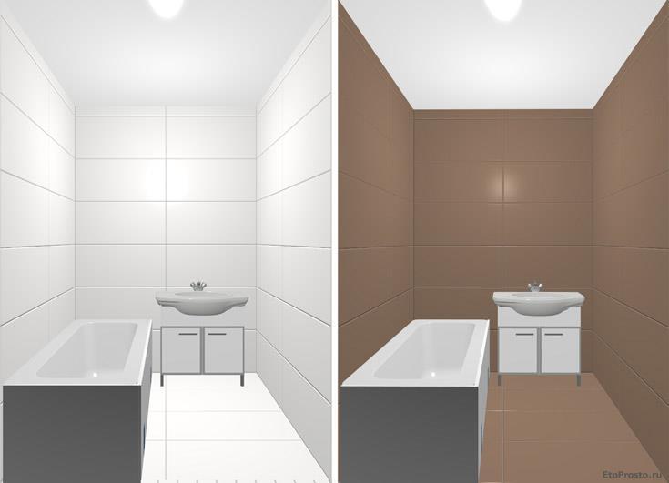 Какого цвета плитку выбрать для маленькой ванной. дизайн своими руками