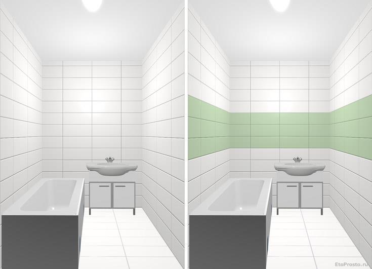 Дизайнерские приемы при оформлении ванной комнаты