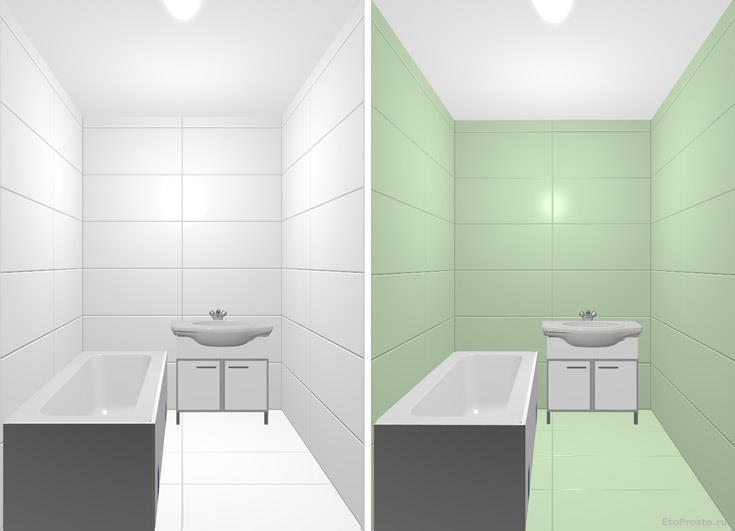 Плитка большого формата для маленькой ванной. дизайн интерьера