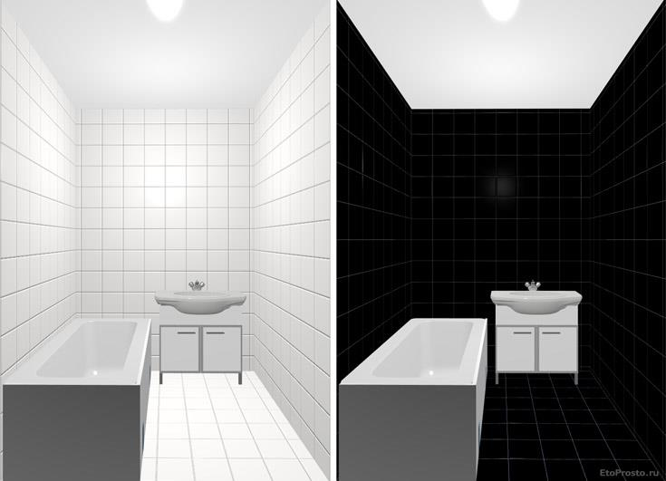 Плитка 20х20 см для маленькой ваннй комнаты