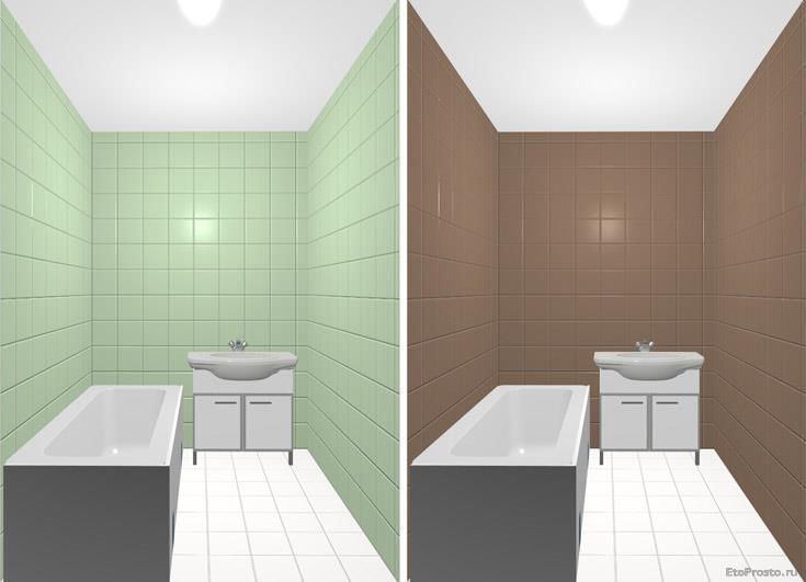 Дизайн ванной комнаты с использование белого пола
