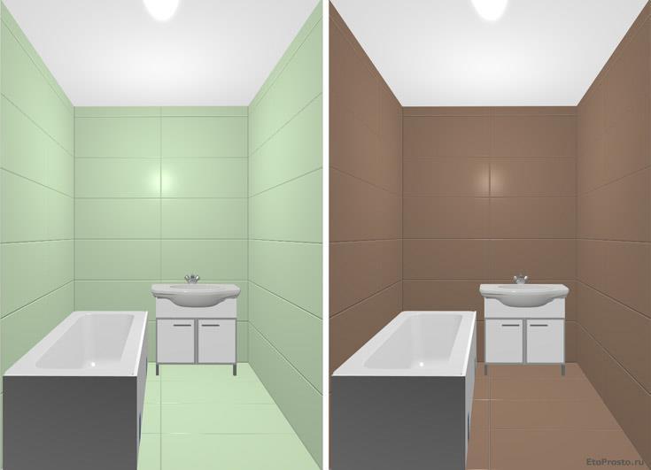 Выбираем цвет стен в помещении. Оттенок цвета и размер помещения