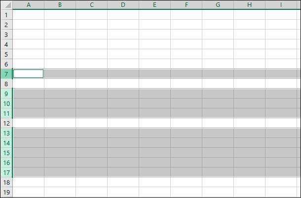 Microsoft Excel. Можете использовать клавишу «Ctrl», чтобы отменить выделение определенных строк