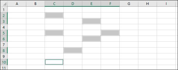 Microsoft Excel. Нажмите и удерживайте клавишу «Ctrl», а затем выберите дополнительные требуемые ячейки