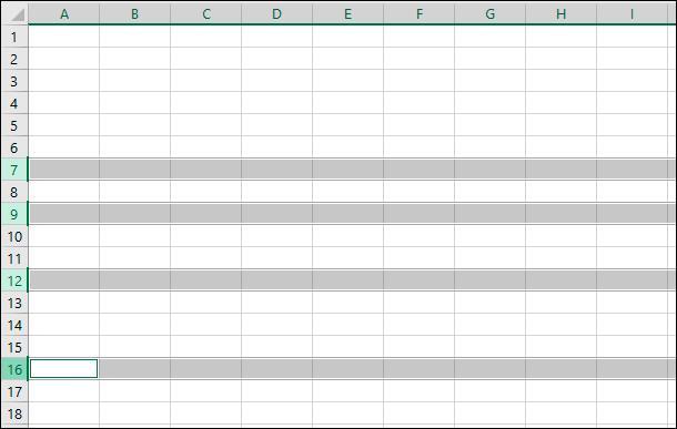 Microsoft Excel. Удерживая клавишу «Ctrl» в нажатом положении, одновременно курсором нажимайте нужные номера дополнительных строк